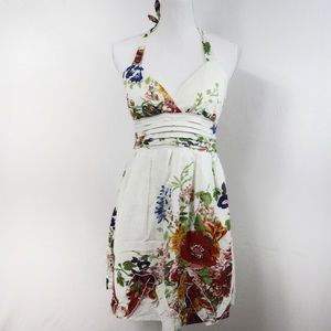 T575 6 Degrees Beautiful Floral Halter Dress M